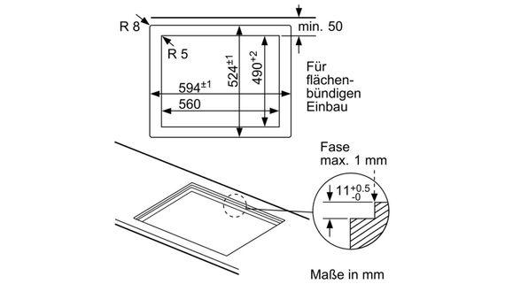 Bosch PPP6A6B90 Gas Autark Gaskochfeld Glaskeramik Kochfeld Gasfeld Gasplatte – Bild 5