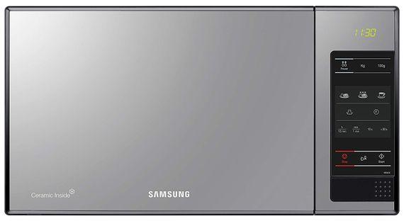 Samsung ME83X  Stand Mikrowelle 800W mit  Drehteller- schwarz mit Glas Front – Bild 1