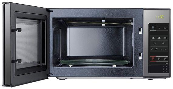 Samsung ME83X  Stand Mikrowelle 800W mit  Drehteller- schwarz mit Glas Front – Bild 2