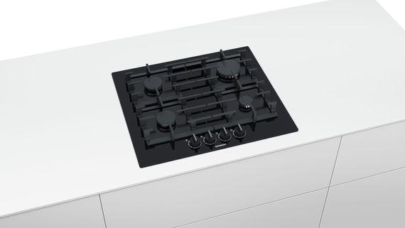 Siemens Gaskochfeld iQ500 EP6A6PB90 60cm Gas Kochfeld Autark gehärtetes Glas - schwarz – Bild 2