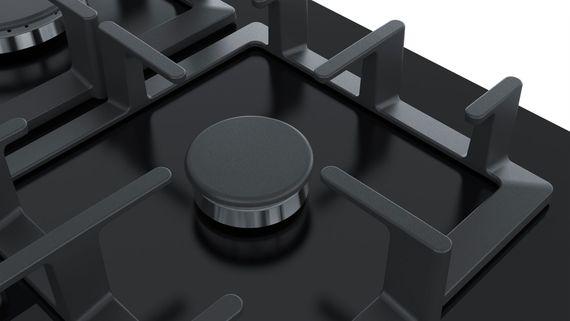 Siemens Gaskochfeld iQ500 EP6A6PB90 60cm Gas Kochfeld Autark gehärtetes Glas - schwarz – Bild 4