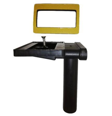 Keenberk Überlauf 90° für Spülen mit Überlauf in Ablagefläche neben dem Becken - rechteckig flach - 50mm x 80mm – Bild 1