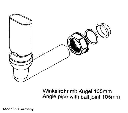 Keenberk Überlauf-Set für Spülen mit flachem Überlauf in Ablagefläche neben dem Becken - rechteckig - 50mm x 80mm – Bild 5