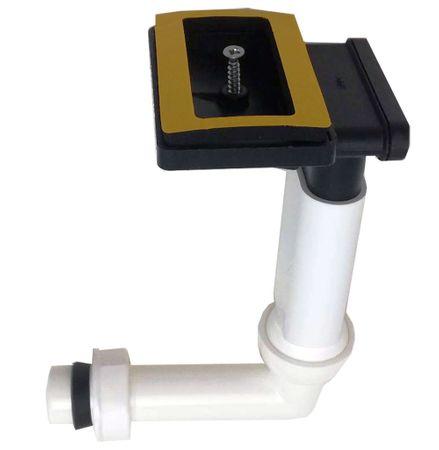 Keenberk Überlauf-Set für Spülen mit flachem Überlauf in Ablagefläche neben dem Becken - rechteckig - 50mm x 80mm – Bild 1