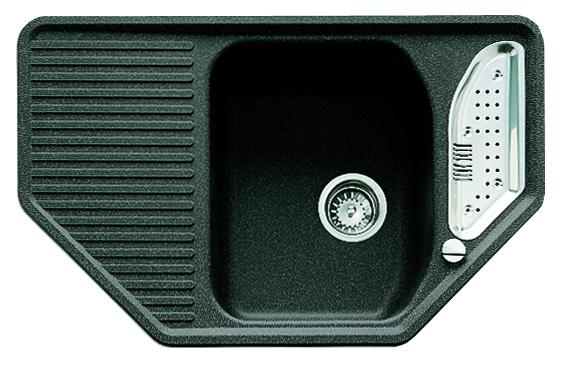 Teka Granitspüle Texina 45 E-TG Carbon Granit-Spüle Eckspüle schwarz – Bild 1