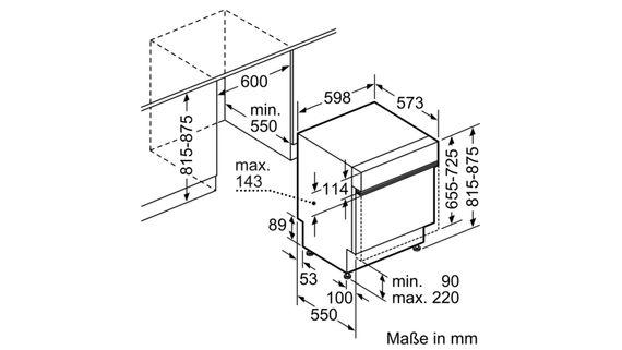 Bosch Geschirrspüler SMI46KS01E - 60cm Edelstahl integrierbar – Bild 4