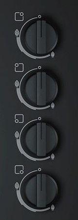 Bosch Herdset Autark Gasherd Einbau Backofen Heißluft + GAS Kochfeld auf HARTGLAS 60cm – Bild 4