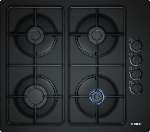 Bosch Gaskochfeld POP6B6B80 - 60 cm breit Einbau Gas-Kochstelle auf Glaskeramik mit elektrischer Zündung  – Bild 1
