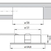 LED Ein-/ Aufbaustrahler CHIP 58 3er Set mit FB – Bild 5