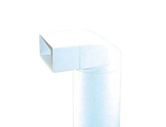 150er Abluft-System Umlenkstück mit Rundrohr 50cm auf Flachkanal Vierkantrohr Abluftrohr – Bild 1