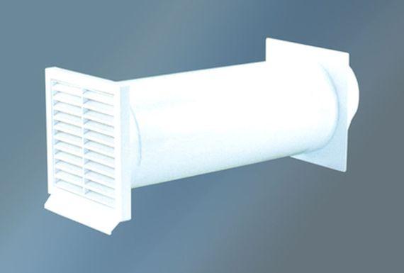 mauerkasten rund wei kernloch durchmesser 155 150 mm rundanschluss mit r ckstauklappe zubeh r. Black Bedroom Furniture Sets. Home Design Ideas