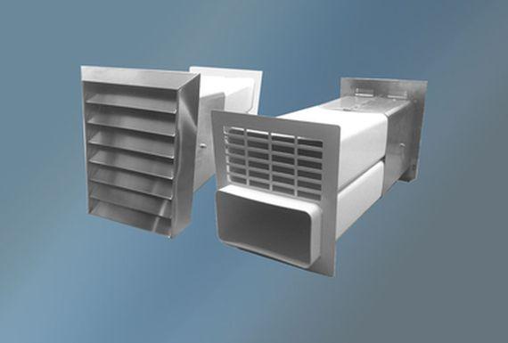 Ab-und Zuluft-Mauerkasten Rechteckanschluß Edelstahlgitter 150er System – Bild 1