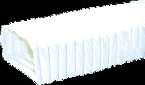 Abluftschlauch Dunstabzugshaube 150mm - Dunst-Abzugsschlauch 3m rechteckig weiß - PVC-Stahldrahtspirale flexibel – Bild 1