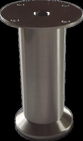 Möbelfuss Metall Edelstahl höhenverstellbar 200-220 mm