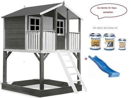 Stelzenhaus Tobi Premium xxl incl. Farbe – Bild 15