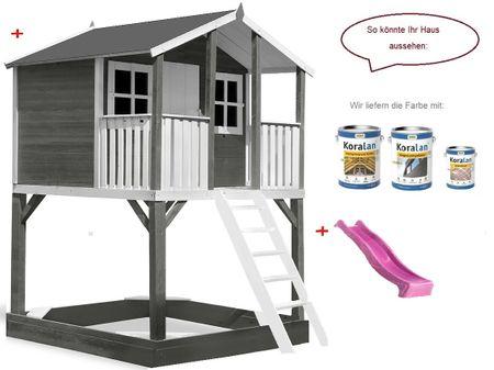 Stelzenhaus Tobi Premium xxl incl. Farbe – Bild 12