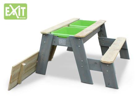 Aksent Sand-, Wasser- und Picknicktisch L mit 1 Bank – Bild 2