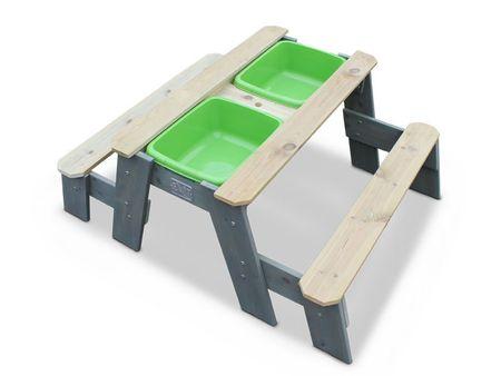 Aksent Sand-, Wasser- und Picknicktisch L mit 2 Bänken – Bild 1