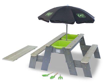 Aksent Sand-, Wasser- und Picknicktisch L Deluxe 2 Bänke – Bild 1