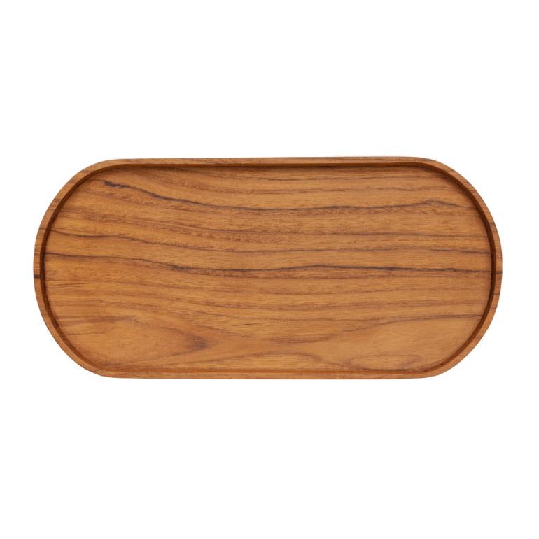 Ovales Tablett aus recyceltem Holz, von Originalhome