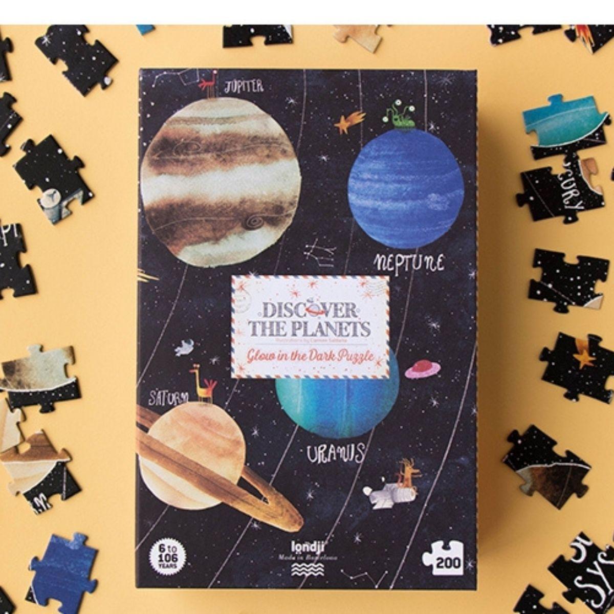 Puzzle, Discover the Planets, 200 Teile, ab 6 Jahren, von Londji