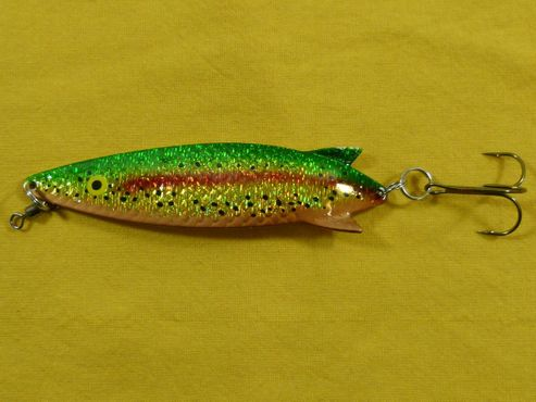Toby Salmo Gold Green Glitter