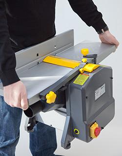 STAHLMANN Abricht- und Dickenhobelmaschine # ADH204 inkl. 2. Paar Hobel-Messer Hobelmaschine – Bild 2
