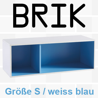 * Regal BRIK S - weiß/blau