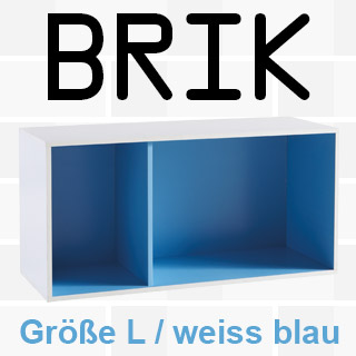 * Regal BRIK L - weiß/blau