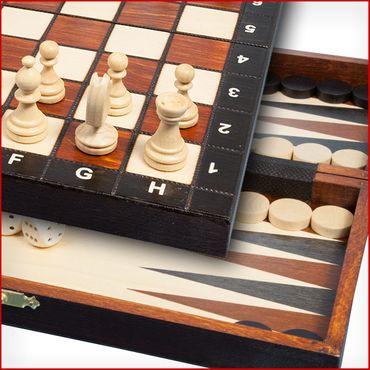 Albatros Schach + Backgammon + Dame TRINO 27 x 27 cm