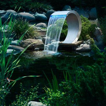 MAMBA inkl. LED Edelstahl Springbrunnen / Wasserfall Ubbink 7504459