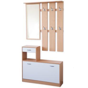 3 tlg. Garderoben-Set SIENA Farbe wählbar – Bild 4