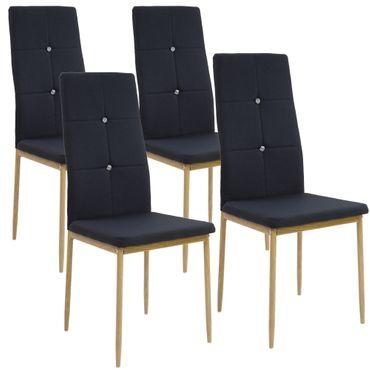 Esszimmerstühle CRYSTAL mit Stoffbezug – Bild 3
