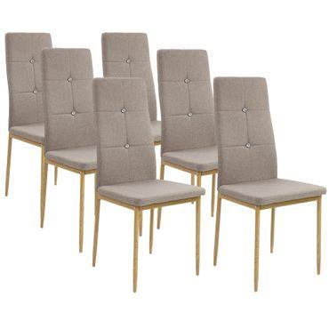 Esszimmerstühle CRYSTAL mit Stoffbezug – Bild 8
