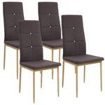 Esszimmerstühle CRYSTAL mit Stoffbezug 001