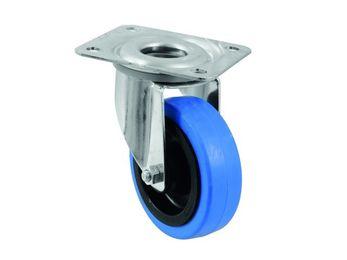 Lenkrolle 100mm BLUE WHEEL hellblau