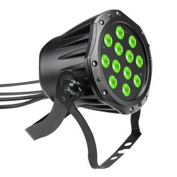 Cameo Outdoor PAR TRI 12 IP 65 - 12 x 3 W TRI Colour LED RGB Outdoor PAR Scheinwerfer in schwarzem Gehäuse