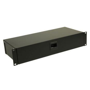 "Adam Hall 19"" Parts 87303 - Rackbox mit Schnappverschluss 3 HE"