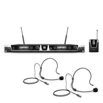 LD Systems U506 BPH 2 - Funkmikrofon System mit 2 x Bodypack und 2 x Headset