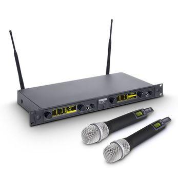 LD Systems WIN 42 HHC 2 B 5 - Funkmikrofon System mit 2 x Belt Pack und 2 x Handmikrofon dynamisch