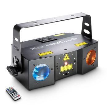 Cameo STORM FX - 3-in-1 Lichteffekt mit Grating-Laser, Strobe und Derby-Effekt inkl. IR-Fernbedienung