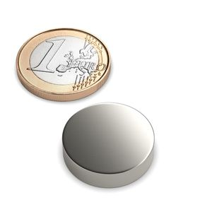 disc magnet Ø 20x5 mm nickel plated - neodymium – Bild 1