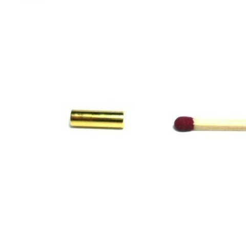 rod magnet Ø 4x12.5 mm gold plated - neodymium