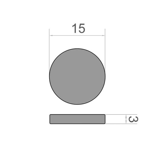 Scheibenmagnet Ø 15x3 mm vergoldet - Neodym – Bild 3