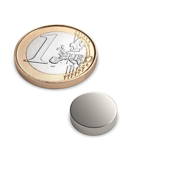 disc magnet Ø 12x3 mm nickel plated - neodymium – photo 1
