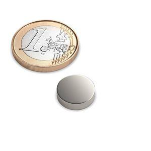 Scheibenmagnet Ø 12x3 mm vernickelt - Neodym – Bild 1