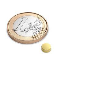 disc magnet Ø 5x2 mm gold plated - neodymium – Bild 1
