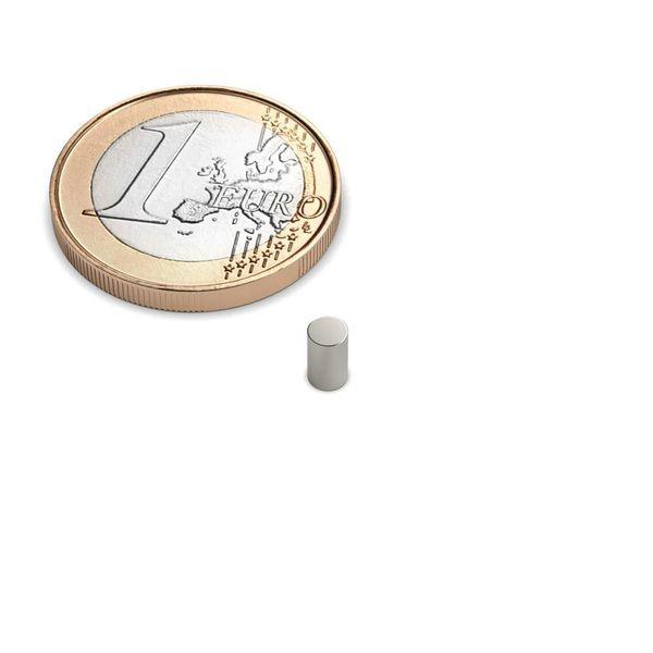 Scheibenmagnet Ø 3x5 mm vernickelt - Neodym – Bild 1