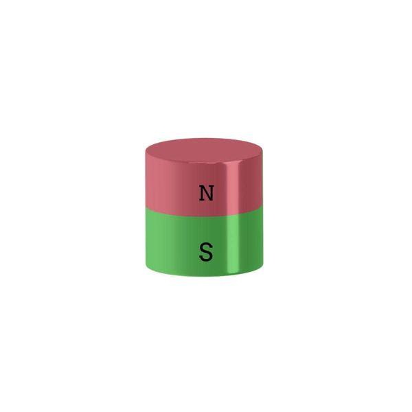 Scheibenmagnet Ø 10x4 mm vernickelt - Neodym – Bild 2