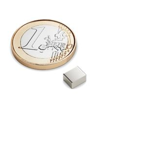 cuboid magnet 5x6x3 mm nickel plated - neodymium – Bild 1